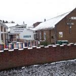 Yiewsley Baptist Church in the Snow