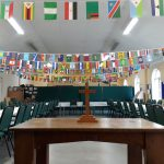 Church Hall, Set for International Meal