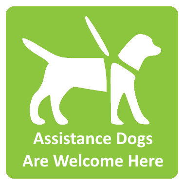 Assistance Dogs are Welcome Here