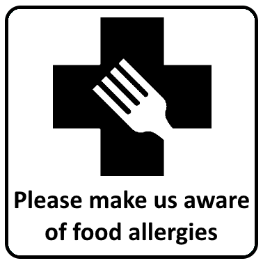 Please make us aware of food allergies